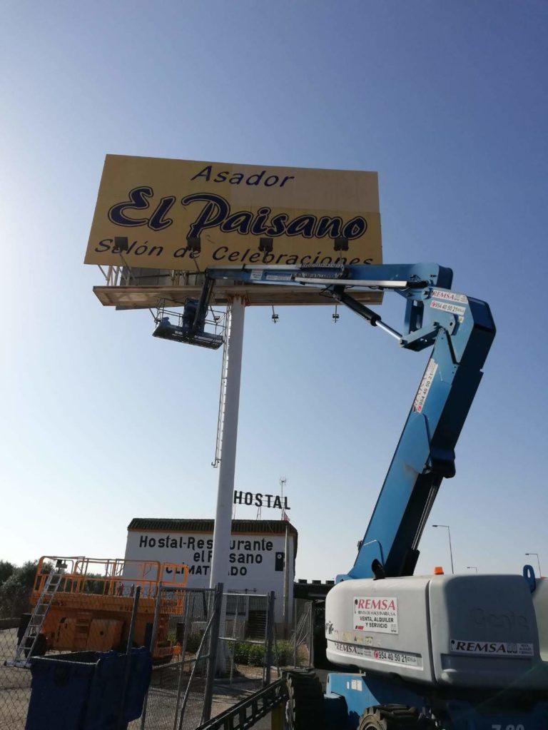 """Pintado de valla publicitaria """"El Paisano"""""""